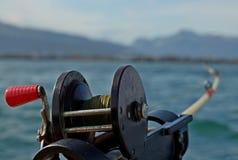Fischerei vom Boot Stockfotos