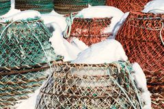 Fischerei von Fallen Lizenzfreie Stockfotos