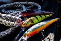 Fischerei von Ködern stockbild