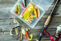 Fischerei von Ködern Stockfotos