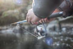 Fischerei von räuberischen Fischen Stockfotos