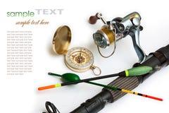 Fischereiausrüstung Stockfoto