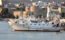 Fischereiboote in Manfredonia, Italien Lizenzfreie Stockfotografie