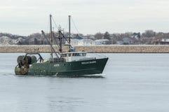 Fischereifahrzeug Megan Marie auf Acushnet-Fluss Lizenzfreies Stockfoto