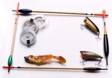 Fischereigeräte Stockbild