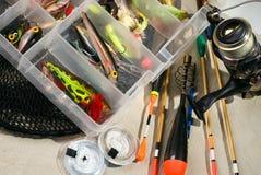 Fischereigeräte Stockfotografie