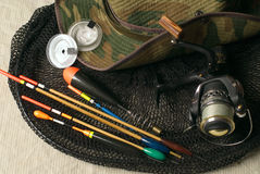Fischereigeräte lizenzfreie stockfotos