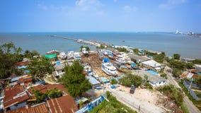 Fischereihäfen und Werfte Lizenzfreies Stockfoto