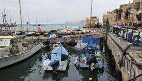 Fischereihafen in altem Yaffo israel Lizenzfreies Stockfoto