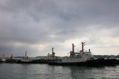 Fischereihafen bei Mojiko 2016 Stockbilder
