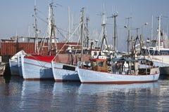 Fischereihafen in Dänemark stockbilder