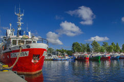 Fischereihafen in Kolobrzeg Lizenzfreie Stockfotografie