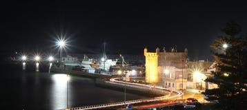 Fischereihafen nachts. Marokko, Es-saouira. Stockfotografie