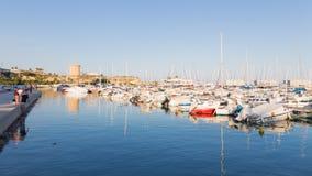 Fischereihafen von EL Campello Lizenzfreie Stockfotografie
