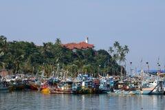 Fischereihafen von Matara in Sri Lanka stockbild