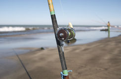 Fischereipol Stockfoto