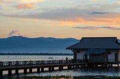 Fischerhütte Stockfoto