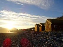 Fischerhütte lizenzfreies stockbild