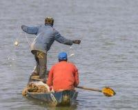 Fischerman w łodzi Fotografia Stock