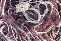Fischernetz, das heraus zur Sonne verbreitet Lizenzfreie Stockbilder