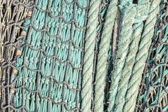 Fischernetz-Hintergrund Stockfotos