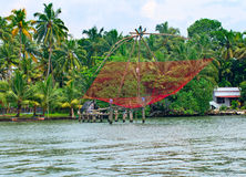 Fischernetz in Kerala, Indien Lizenzfreie Stockbilder