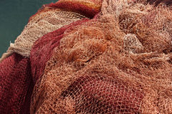 Fischernetze lizenzfreies stockfoto