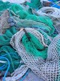Fischernetze auf dem Stapel Lizenzfreies Stockfoto