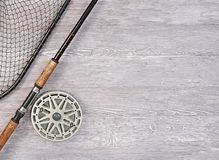 Fischernetze und Angelrute Lizenzfreie Stockfotografie