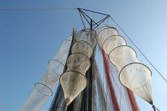 Fischernetze und Fisch-schließt Lizenzfreie Stockfotos