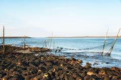 Fischernetze und Polen Lizenzfreies Stockfoto