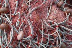 Fischernetzhintergrund Lizenzfreies Stockbild
