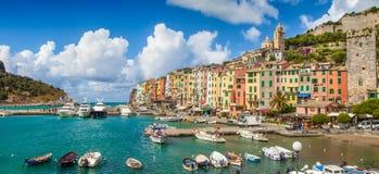 Fischerstadt von Portovenere, Ligurien, Italien stockfotos