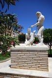 Fischerstatue, Garrucha, Spanien. stockbild