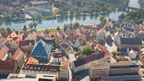 Fischerviertel and Danube River in Ulm, Germany Stock Images