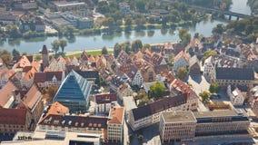 Fischerviertel e fiume di Danubio in Ulm, Germania Immagini Stock