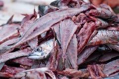 Fischfilet-Blut tot Stockbild