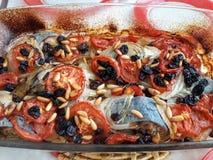 Fischfutter lizenzfreies stockfoto