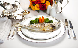 Fischgericht Lizenzfreie Stockfotografie