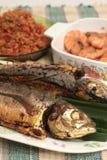 Fischgericht Stockfoto