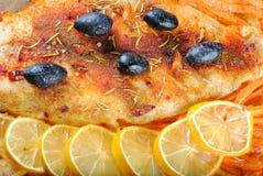 Fischgericht Stockbild