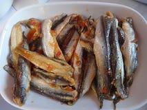Fischgericht in Istanbul Stockfotos