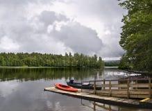 Fischgrund in einem See Lizenzfreie Stockbilder