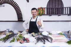 fischhändler Stockbild