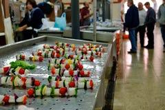Fischhändler in Algarve stockfoto