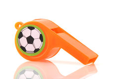 Fischio arancione Fotografie Stock