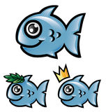 Fischkarikatur Stockfoto
