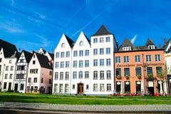 Fischmarkt和伟大的圣马丁教会, Koln -科隆,德国, 05 07 17 免版税库存照片