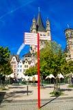 Fischmarkt和伟大的圣马丁教会, Koln -科隆,德国, 05 07 17 免版税图库摄影