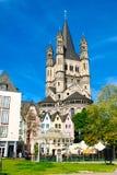 Fischmarkt και μεγάλη εκκλησία του ST Martin, Koln - Κολωνία, Γερμανία, 05 07 17 Στοκ φωτογραφίες με δικαίωμα ελεύθερης χρήσης